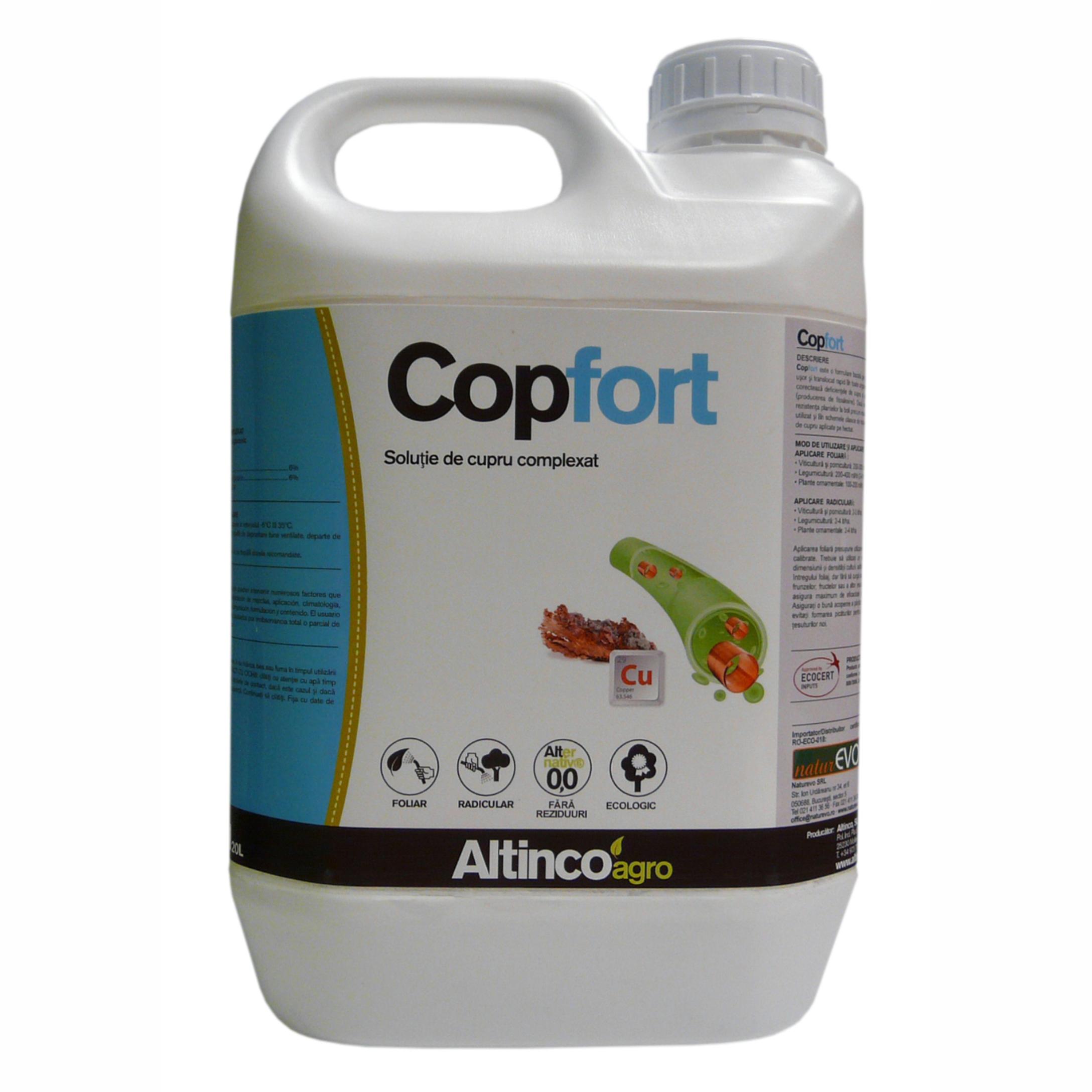 Copfort - fortifiant pentru plante