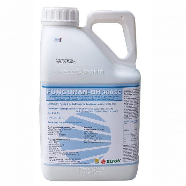 Fungicid de contact, pe baza de hidroxid de cupru